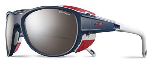 Julbo Explorer 2.0 Mountaineering Glacier Sunglasses - Spectron 4 - Matte Blue/Red