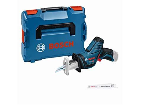 Bosch Professional 12V System Akku Säbelsäge GSA 12V-14 (Schnitttiefe Holz/Metallprofile: 65/50 mm, 2 Sägeblätter, ohne Akkus und Ladegerät, in L-BOXX 102)