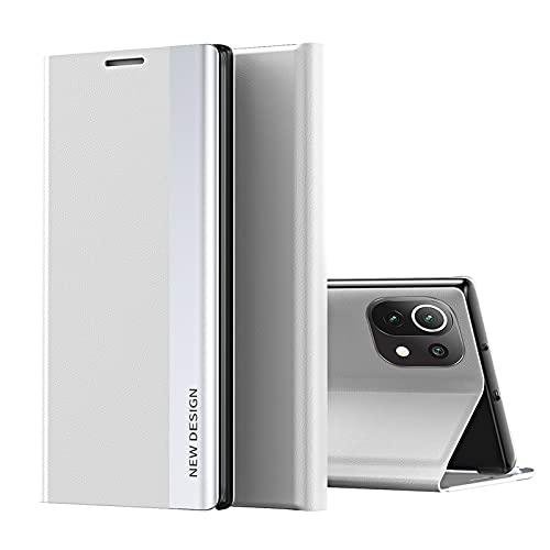TOPOFU Funda para Xiaomi Redmi Note 9S/9 Pro, Carcasa Xiaomi Redmi Note 9S/9 Pro con Cierre Magnético, Flip Cover Case con Suporte, Étui Piel Protección-Blanco