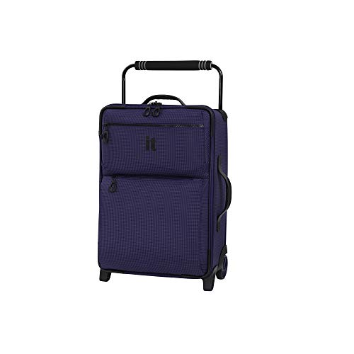 IT Luggage 21.8' World's Lightest Los Angeles 2 Wheel Carry On, Queen Purple, One Size