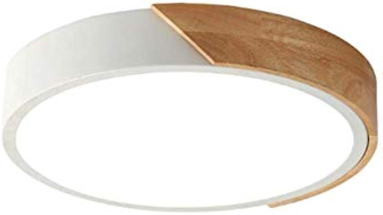 Holz LED Deckenleuchte Unterputz ush Einfache Cartoon Dimmbare LED Deckenleuchte für Kinder Schlafzimmer Kreative Deko Deckenleuchte für Kinderzimmer ( Farbe   Warm light , Größe   30cm-18w )
