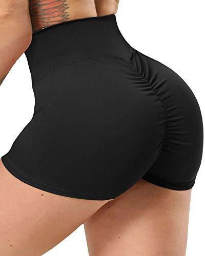 High Waisted Workout Yoga Shorts Women Butt Lifting Booty Scrunch Ruched Anti-cellutite Gym Hot Sexy Stretchy Pants