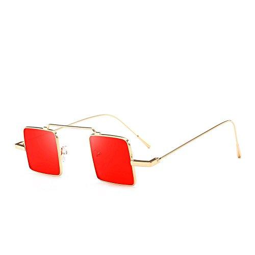 VJGOAL Unisex retro gafas de sol cuadradas clásicas UV integradas en color caramelo de moda