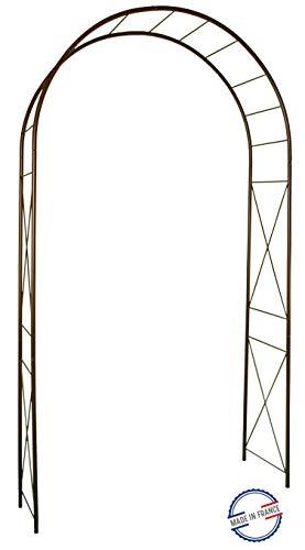 Louis Moulin 3186 Arche Jardin avec Décor Losange Métal Fer Vieilli 130 x 250 cm