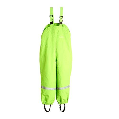 BMS atmungsaktive Regenlatzhose für Kinder, Limone, Größe 110