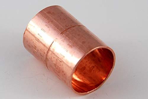 Muffe 12 mm / 5270 (VE 10 Stk) Kupfer Fitting Lötfitting CU, 10 Stück, copper fitting, zum Löten, Rohrverbinder