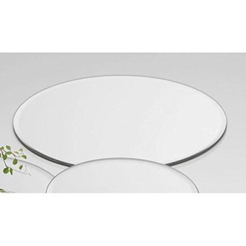Sandra Rich 6er Set Spiegelplatten, Deko Tischspiegel D. 20cm rund Glas