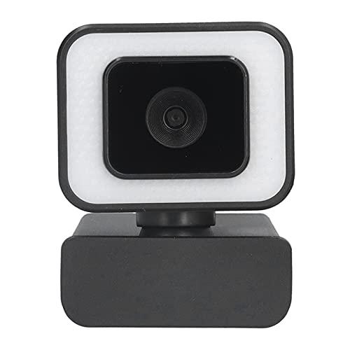 Sorandy Cámara Web USB con micrófono, cámara Web Full HD 1080P 30FPS, cámara portátil de Escritorio USB con rotación de 360 ° para videollamadas, conferencias, retransmisiones