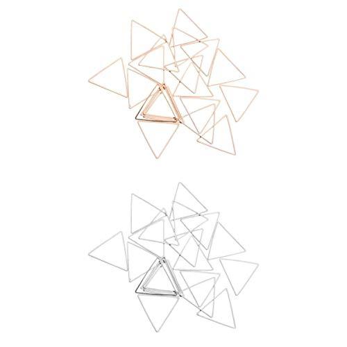 #N/A /a Pendiente colgante triangular hecho a mano, 40 unidades, joyas de oro + plata