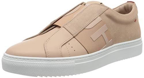 HUGO Futurism Low Cut-Mix, Zapatillas sin Cordones para Mujer, Rosa (Peach Whip 694), 41 EU