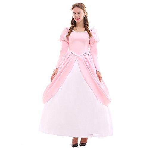 Fortunehouse Ariel Disfraz de cosplay para adultos, disfraz de sirena, disfraz de Halloween