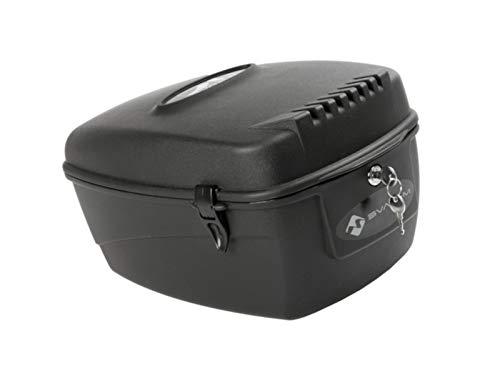P4B | abschließbare Gepäckträger Box - für Ihr Fahrrad | 17 Liter Fassungsvermögen | Montage am Gepäckträger | Fahrrad Transportbox | In Schwarz