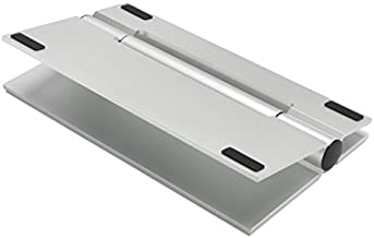 SoundXtra Universal Desktop Wide Speaker Stand - Single (Silver)