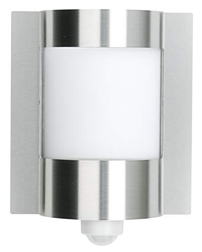 Applique rectangualire 30,5 cm en acier inoxydable et verre avec détecteur de mouvement