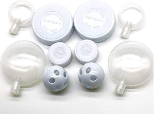 Liandasheng 10-teiliges Set, Rasseldosen, Rasselkugeln, Quietscher zum Einnähen Füllmaterial