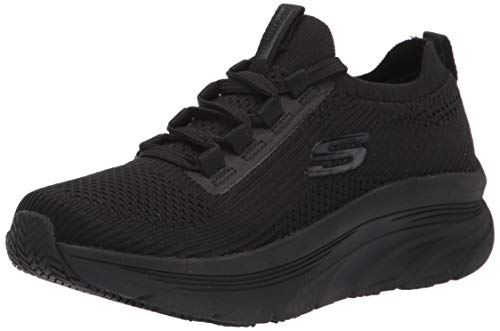 Skechers Women's Slip on Athletic Styling Health Care Professional Shoe, 11 Black