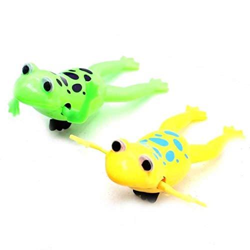 Yener 1PCS Amüsante schwimmende Frösche Entspannen Sie Sich Uhrwerk Frosch Spielzeug Baby Bad Spielzeug Aufziehspielzeug für Kinder Kinder Geschenk, Frosch zufällig 1