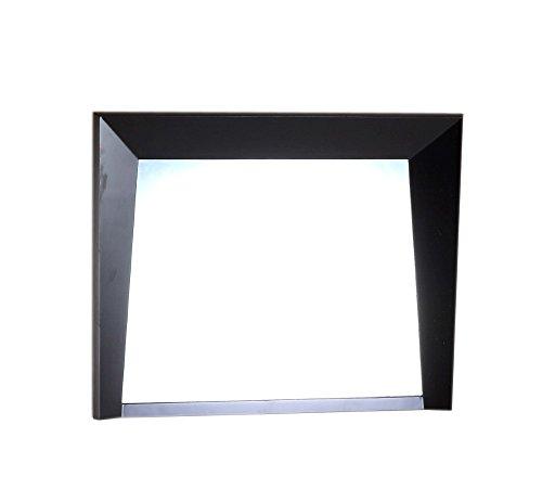 "Bellaterra Home Espresso Wood Frame Mirror, 36"""
