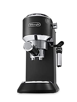 De'Longhi Dedica Style, Traditional Barista Pump Espresso Machine, Coffee and Cappuccino Maker, EC685BK, Black