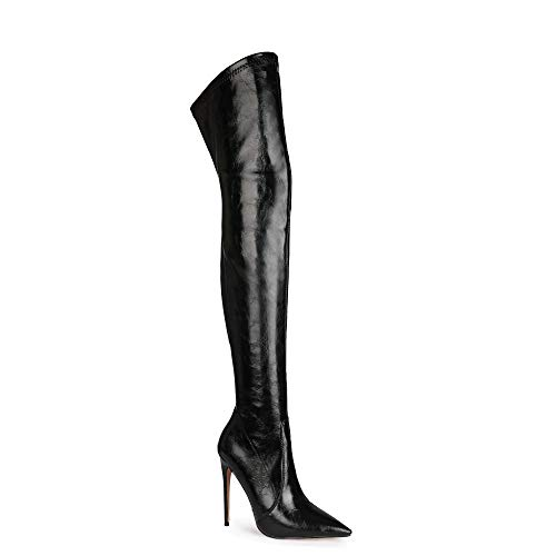Mikrofaser Damenmode Reißverschluss Spitzen Zehen High Heel Stilett leicht zu gehen lässig Over-Knie handgefertigte Stiefel für Frauen Zwj2051