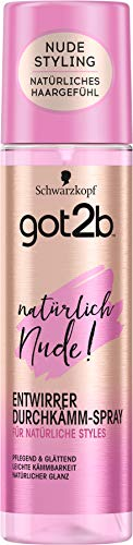 Schwarzkopf got2b Durchkämm-Spray natürlich Nude! Entwirrer, 1er Pack (1 x 200 ml)