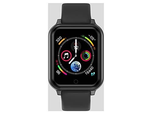 LYB Reloj Inteligente Hombres Mujeres Ritmo Cardíaco Monitoreo De La Presión Arterial B57 Plus Q9 P68 SmartWatch Fitness Sports Smart Pulsera (Color : Black)