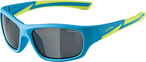 ALPINA FLEXXY YOUTH Sportbrille, Kinder, blue matt-lime, one size