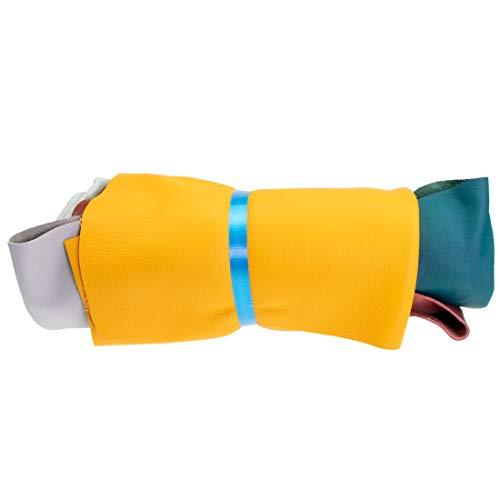 Langlauf Chutes de Cuir Extra Large 1kg Multicolore–Couleurs Assorties Toutes Les pièces Min. DIN A3Grand de Schuhbedarf
