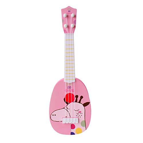 リトル ボーイズ ガールズ 誕生日 ギフト キッズ ミニ ギター ウクレレ 漫画 楽器 子供たち 教育 おもちゃをする (キリン, 11.5cm * 36cm)