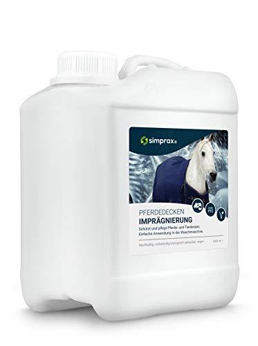 simprax® Pferdedecken Wash-In Imprägnierung 2,5 Liter Einwaschimprägniermittel Atmungsaktiv umweltfreundlich Tierdecke Hundedecke Waschmaschine/Handwäsche