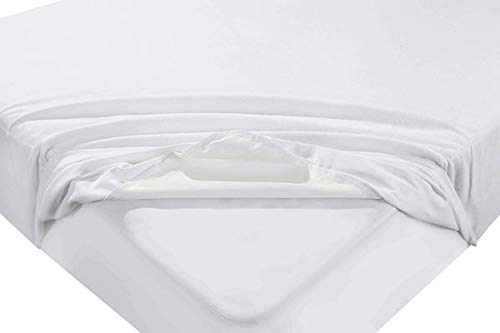 Water & Moisture Proof Extra Deep Terry Towel Mattress Protector Topper Cover Anti Allergy, Anti Dust Mite and Breathable (Cot Bed (70 x 140 cm + 30 cm Depth))