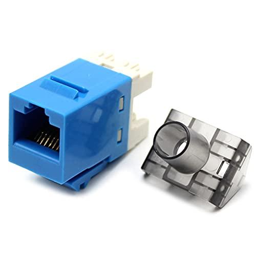 Mogzank 50 Piezas Gigabit Cat6 Utp Rj45 Conector Cat6 MóDulo de InformacióN Toma de Corriente de la Computadora Adaptador de Cable de Red Jack