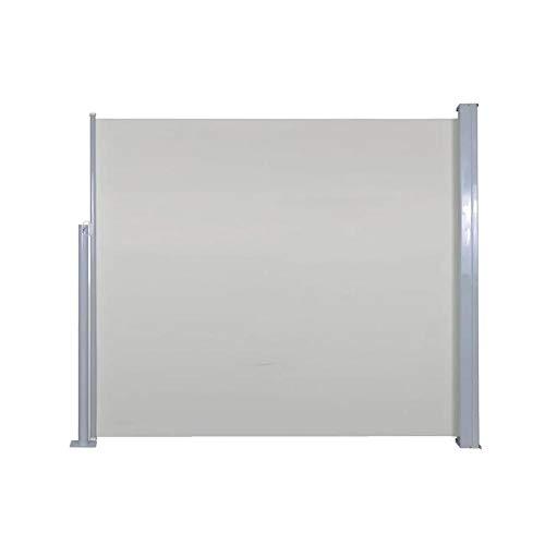 AYNEFY - Toldo lateral multifunción, resistente al agua, lona ligera y plegable, 120 x 300 cm, color crema