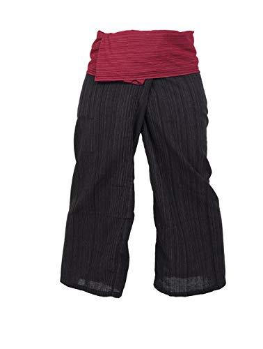 Pantalon thaï 2 tons en coton pour yoga, taille unique (mais sans limite)