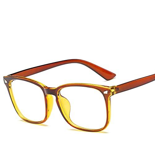 YTYASO Gafas cuadradas para Mujer y Hombre, Gafas para Mujer, Gafas Lisas, Gafas para Mujer y Hombre