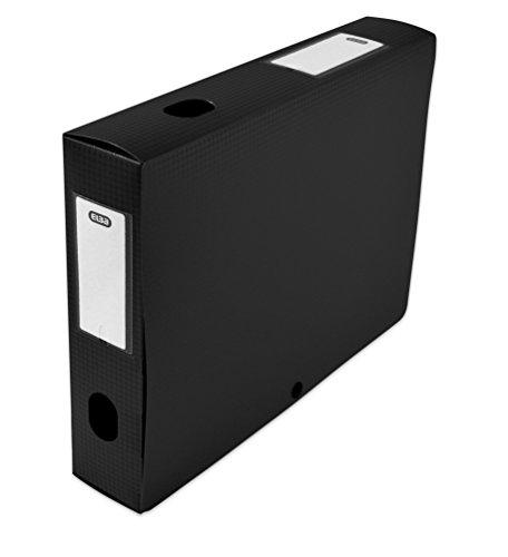 Elba 400094607 Boîte de classement à monter dos 60 mm polypropylène opaque 24 x 32 cm Noir