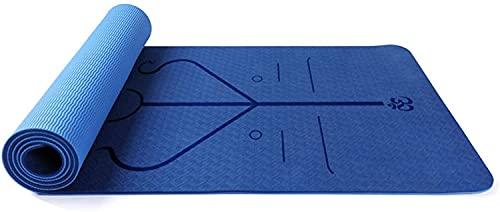 LSLS Esterilla De Yoga Mat DE Yoga DE 8MM TPE Eco Eco Friendly Fitness Fitness Mat.Estera de Entrenamiento para Yoga, Pilates y Gimnasia. Esterilla Fitness (Color : A, Size : 183x61x0.8cm)