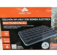 colchon inflable matrimonial con bomba electrica