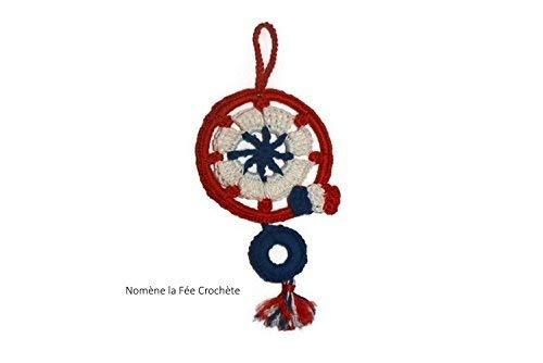 Petit capteur de rêves France, dreamcatcher, petit attrape-rêves, décoration pour votre maison, ou au rétroviseur de votre voiture