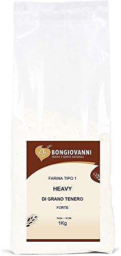 Bongiovanni Farine e Bonta  Naturali Heavy - Farina Tipo 1 di Grano Tenero Forte - 1 Kg