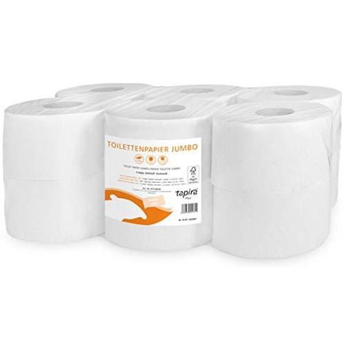 Tapira Plus Toilettenpapier, groß, 2-lagig, 360 m, Schwarz