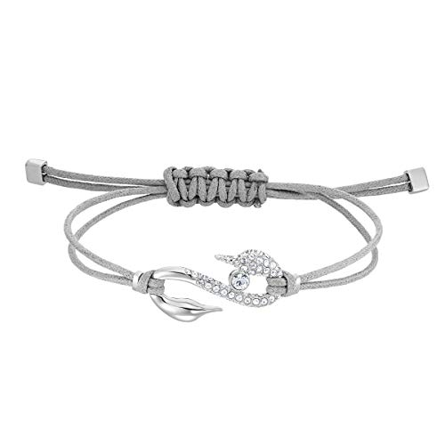 Swarovski Pulsera Power Collection Hook, Gris, Baño de Rodio