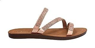 Dejavu Pave Embellished Strapped Slide Slippers for Women