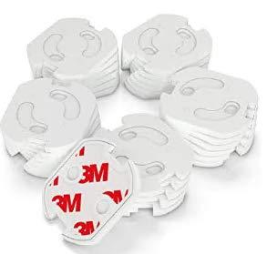[25 Stück]Kindersicherung Steckdose mit Drehmechanik,Canwn Steckdosensicherung für Baby und Kinder Kindersicherheit Steckdosenschutz, weiß
