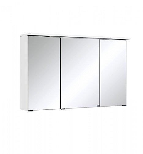 Held Möbel Bolgona Spiegelschrank, Holzwerkstoff, Weiß, 20 x 100 x 68 cm
