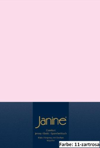 Janine Spannbettlaken 200 x 200 cm 5002 Bettlaken Elastic Zartrosa 95 % Baumwolle, 5 % Elasthan L/B ca. 200/200 cm