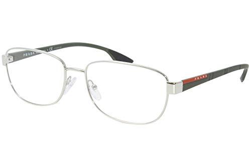 Prada LINEA ROSSA 0PS 52LV Monturas de gafas, Silver, 56 para Hombre