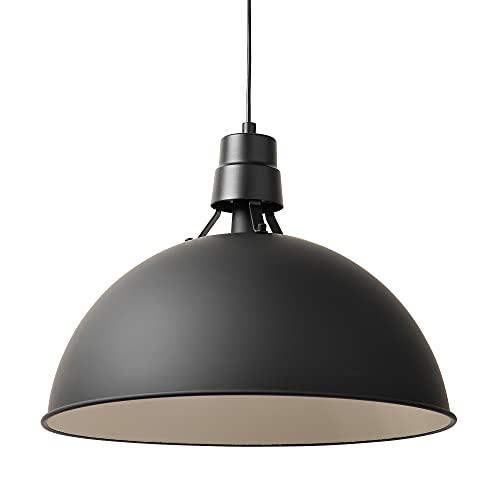 Tabdoq, Suspension XL au design industriel XL en acier, diamètre 51 cm, noir