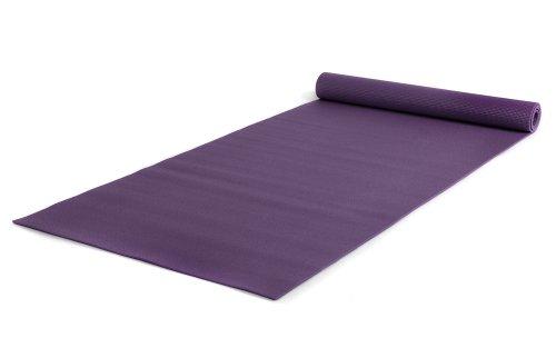 Yogistar Yogamatte Basic XXL - rutschfest und sehr gross - Aubergine
