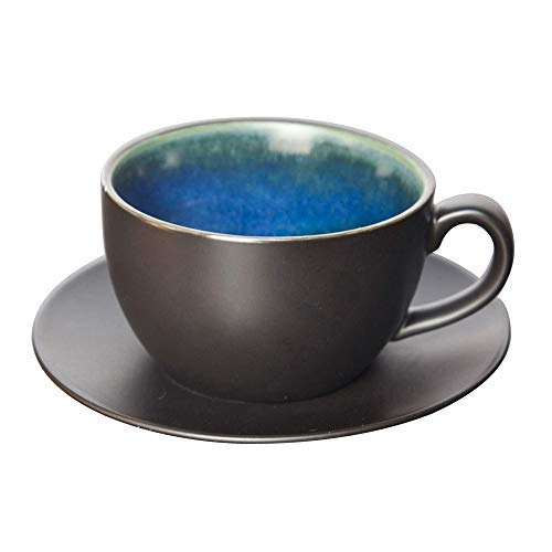 Tazas de cerámica Taza de café Taza de café Conjunto Cerámica Hogar 250ml Capacidad Taza de café y platillo Regalo de oficina Decoración del hogar Decoración de la decoración Leche caliente Cacao Capp